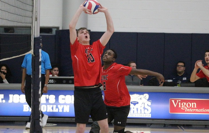 Men's Volleyball Falls in Five Sets at Regis