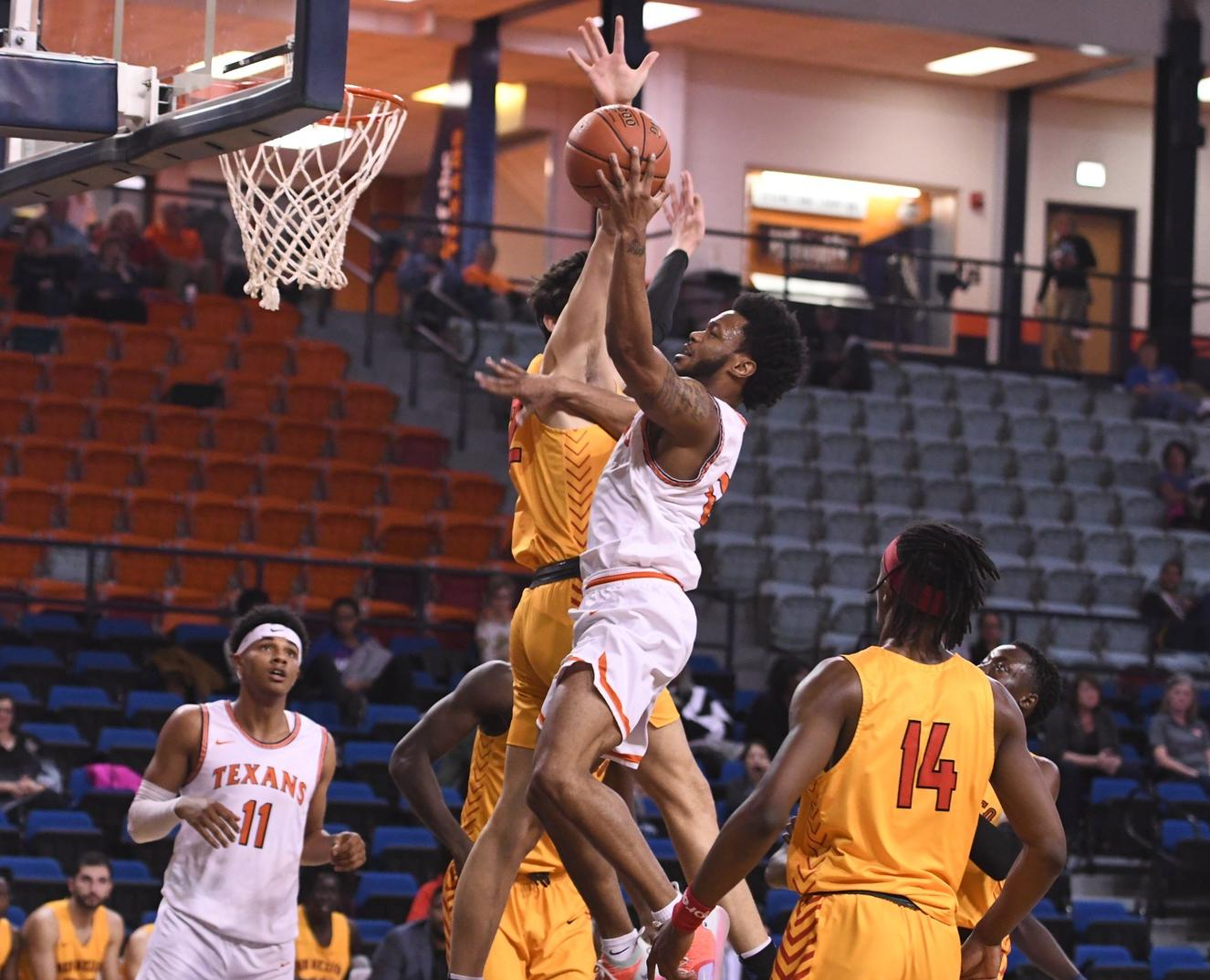 Person's season-high 22 points lead Texans past Thunderbirds 61-53 Monday