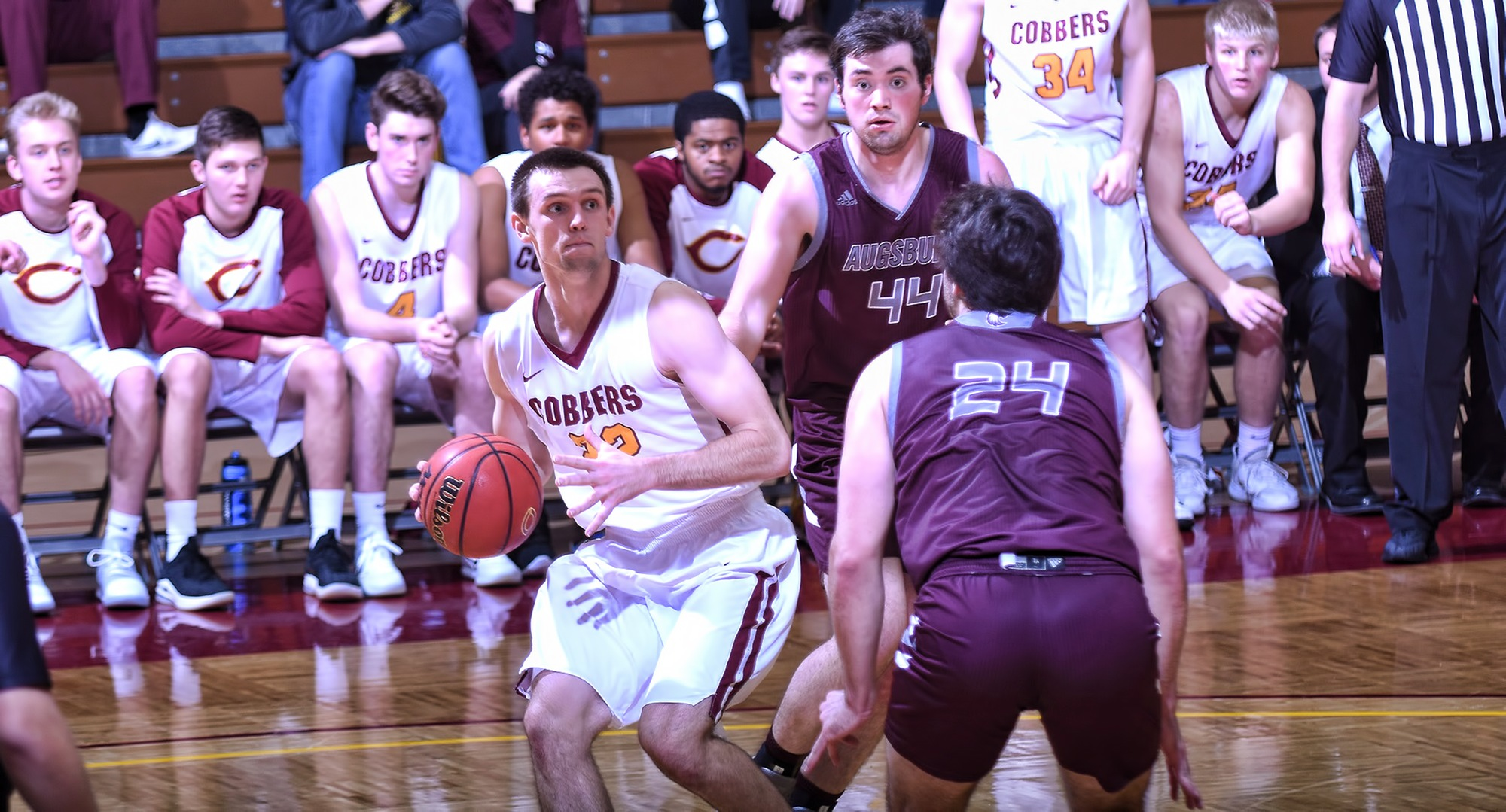 Junior Jacob Fredrickson had a career-high 16 points in the Cobbers' game at Augsburg.