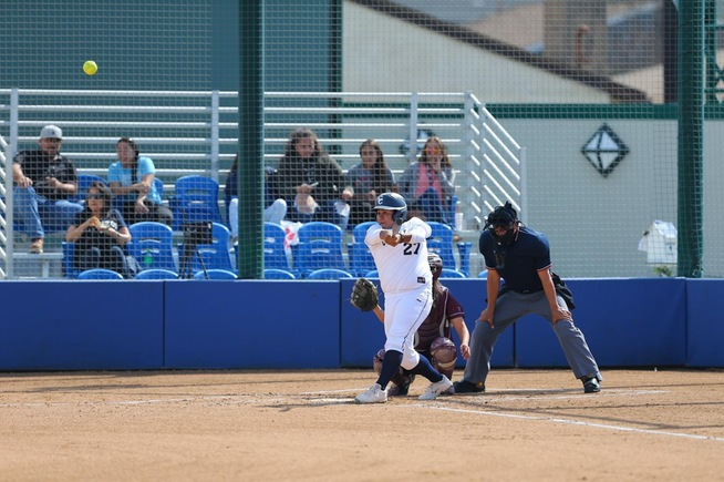 File Photo: Briana Lopez leads the Falcons with 18 home runs this season