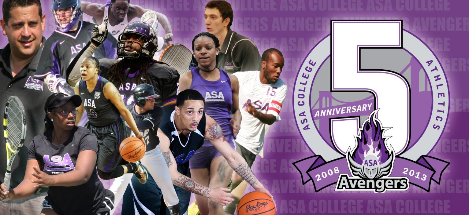 Helping Celebrate ASA Athletics' 5th Anniversary: Athletic Director/Men's Basketball Coach Kenney Wilcox; Sophomore Brandon Goodwin (Lacrosse); Sophomore Ramoye Simon (Track & Field); Sophomore Leon Brown (Football); Sophomore Shaquita Smith (Women's Basketball); Sophomore Fatima Ouattara (Women's Tennis); Sophomore Daquan Brickhouse (Men's Basketball); Freshman Tanasia Linton (Track & Field); Freshman Kevin Victoriano (Baseball); Sophomore Justin Stapleton (Men's Soccer); Sophomore Pavel Zhdanov (Men's Tennis)