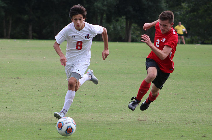 Men's Soccer: Freshmen power Panthers past Huntingdon in USA South opener