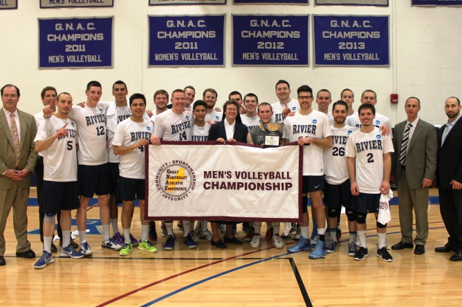 Men's Volleyball captures 7th straight GNAC Championship