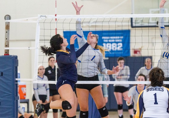 WOMEN'S VOLLEYBALL DOWNED BY VIKINGS, 3-1