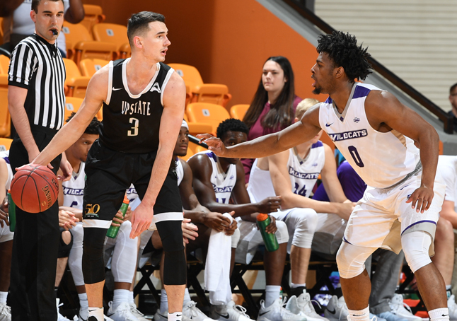 Holmes, Thompkins Lead Upstate to 88-78 Win over Abilene Christian at Creek Classic
