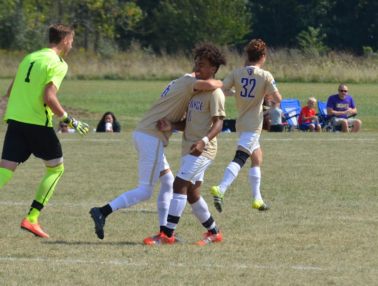 Men's Soccer Stings Bethany on the Final Day of the Purple and Gold Classic