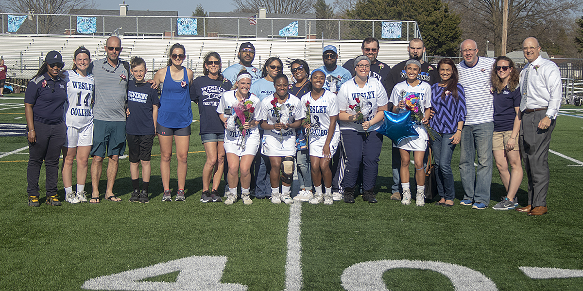 Women's Lacrosse celebrates seniors with 15-14 win over Southern Virginia