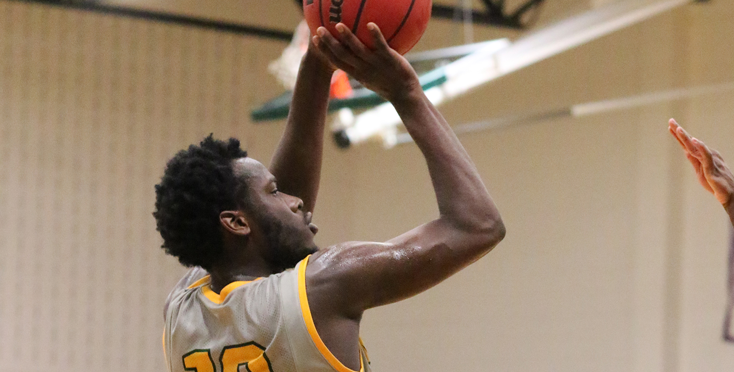 James Barnes (10) scored 21 to lead Keuka College on Saturday -- Photo by Ed Webber