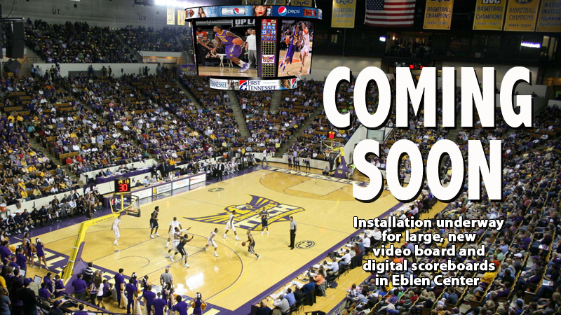 Video boards, digital scoreboard being added to gameday experience in Eblen Center