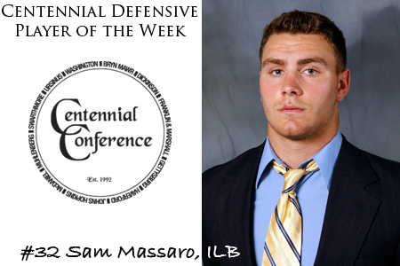 Massaro Named Defensive Player of the Week
