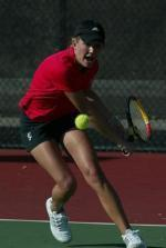 Women's Tennis Upsets Nationally-Ranked Cal Poly 4-3