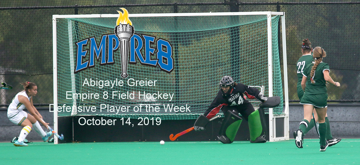 Greier saluted as Empire 8 Defensive Player of the Week