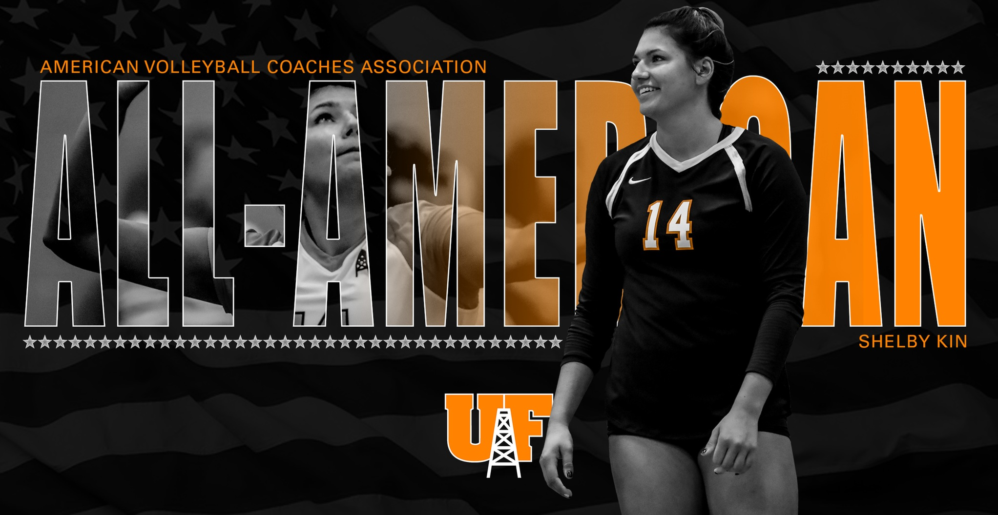 Kin Earns All-American Honors from AVCA