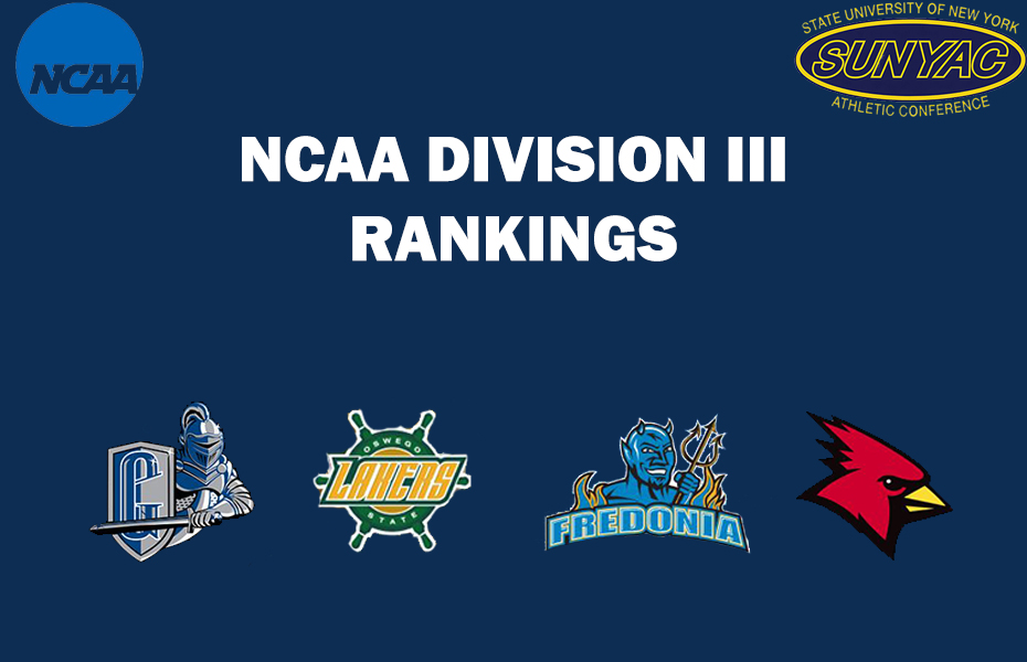 Five SUNYAC Teams are currently Nationally Ranked