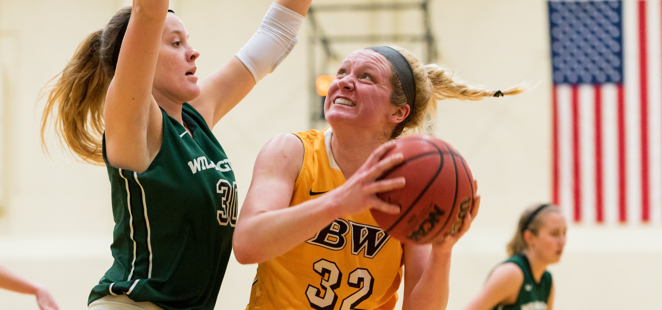 Freshman forward Lilly Edwards scored 20 points off the bench in BW's win over Wilmington (Photo courtesy of Jesse Kucewicz)