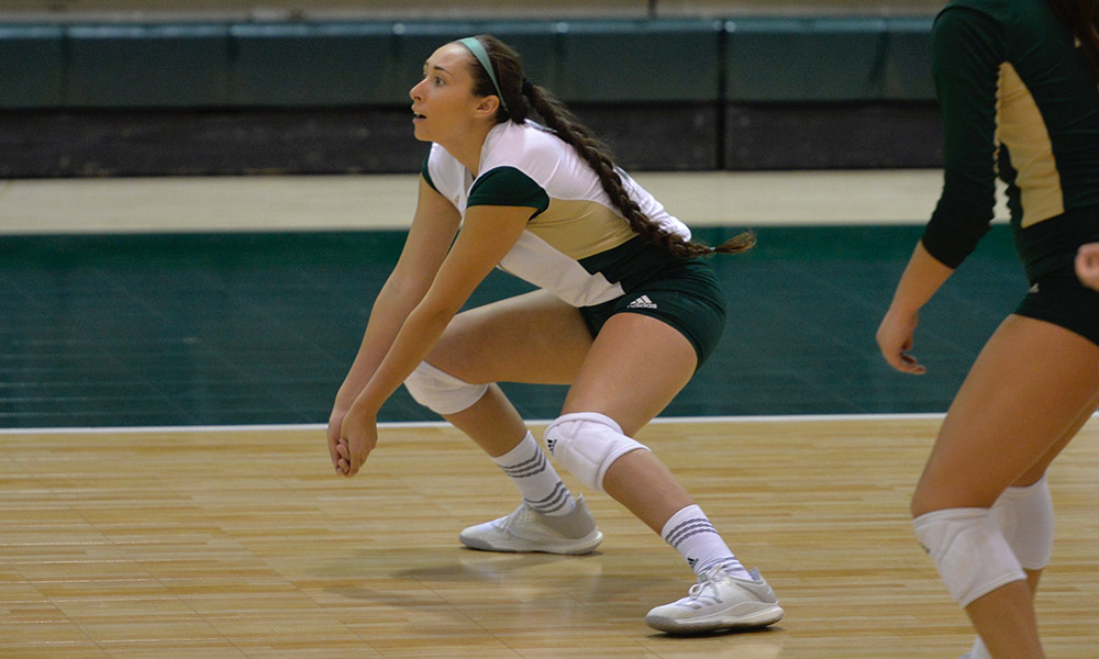 DENVER OUTLASTS VOLLEYBALL IN FIVE SETS, HORNETS FINISH TWO-DAY TOURNAMENT WITH A 2-1 RECORD