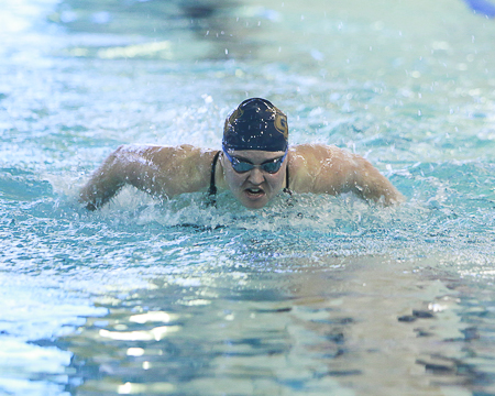 Polivanchuk wins three times as Bison drop NEAC double dual meet