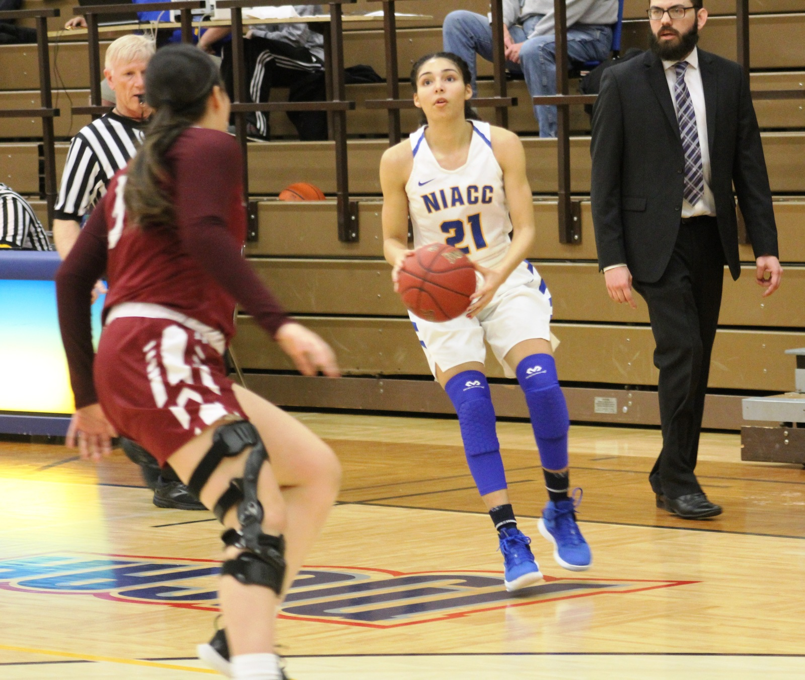 NIACC's Jada Buford gets ready to launch a 3-point goal in Wednesday's win over Little Priest Tribal College.