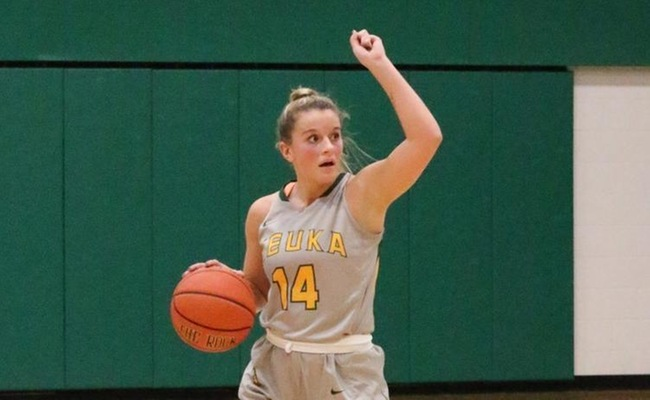 Riley Record (14) scored a career-high 12 points for Keuka College on Tuesday -- Photo by Ed Webber