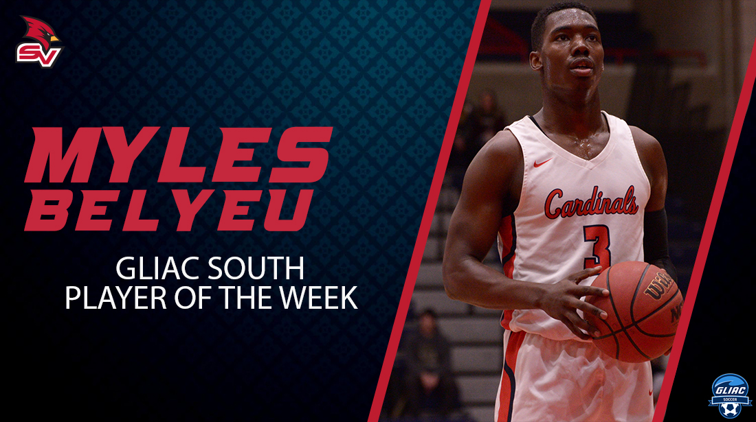 Myles Belyeu named GLIAC South Division Player of the Week