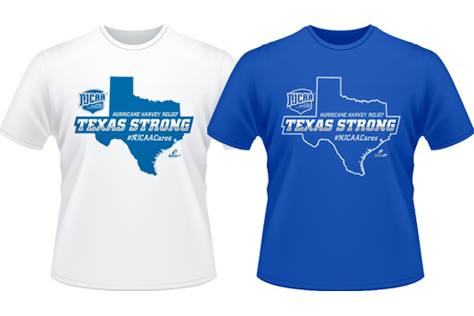 Prince George's Athletics Joins #NJCAACares Initiative; Purchase A Texas Strong T-Shirt To Benefit NJCAA Region 14 Members Hit By Hurricane Harvey