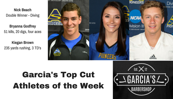 Garcia's Barbershop Athletes of the Week for 10/23