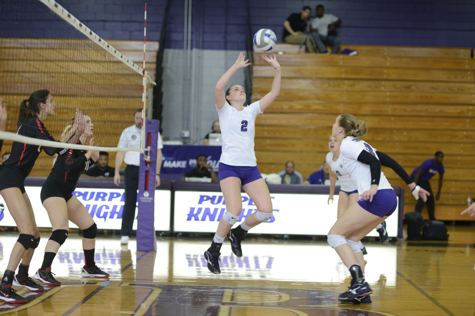 Volleyball Stopped In Four Sets In Non-Conference Match At Bentley