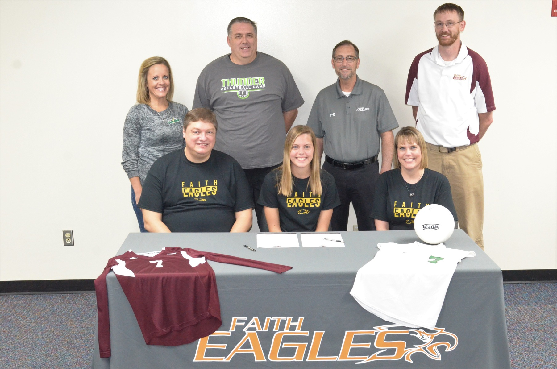 Eagles' Volleyball Signs Booth