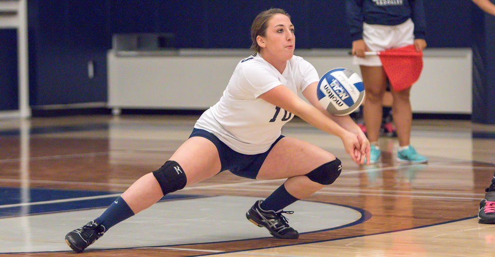 USMMA Sinks Women's Volleyball in Straight-Sets
