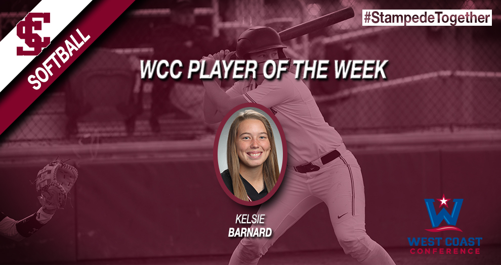 Barnard Named West Coast Conference Player of the Week