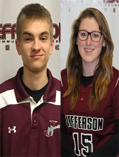 Gabe LaFex and Katelyn I. VanBrocklin Jefferson Co-Athletes of the Week