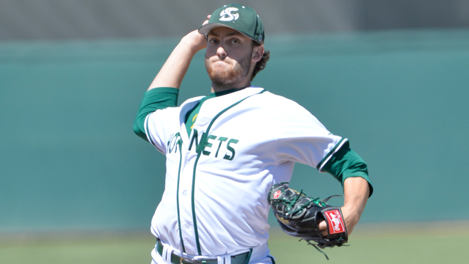 KARNOS THROWS SHUTOUT AS BASEBALL BEATS UTAH VALLEY 8-0