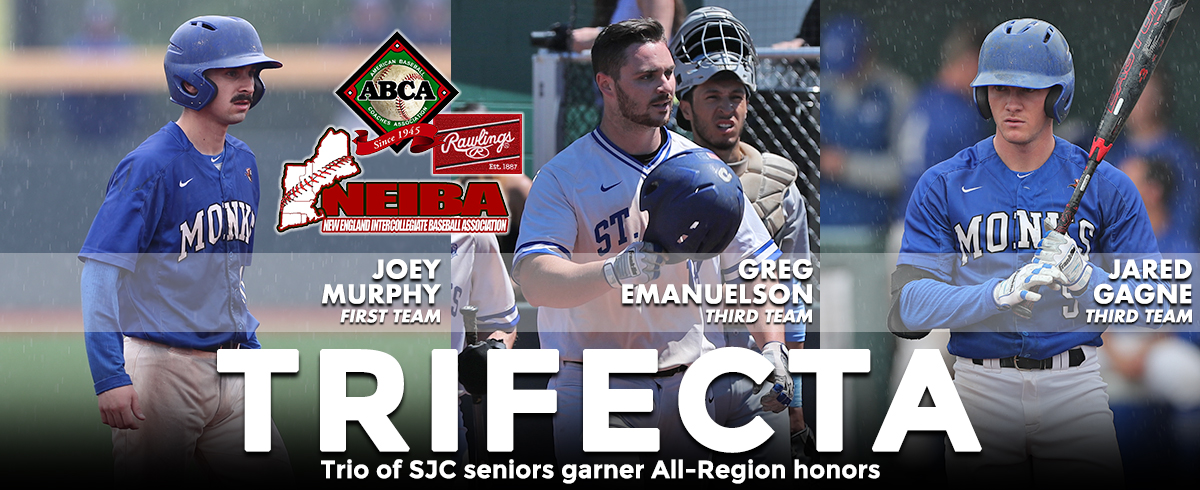 Murphy, Gagne & Emanuelson Claim ABCA/Rawlings & NEIBA All-Region Honors