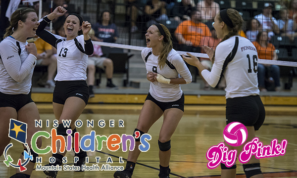 Tusculum volleyball donates funds to Niswonger Children's Hospital