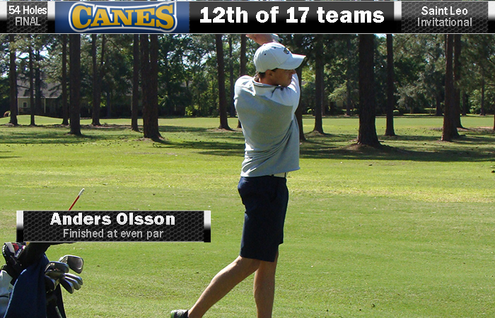 Olsson Leads GSW At Saint Leo Invite