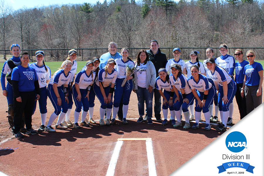 The Blue honored senior Sydney Hopper for her contributions to the program prior to game one.
