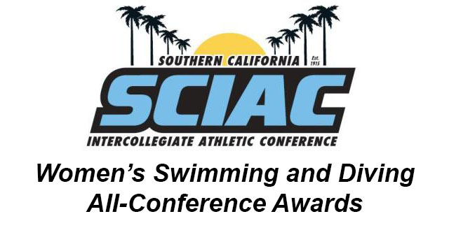 SCIAC Is Proud to Announce the Women's Swimming and Divinng All-Conference Awards