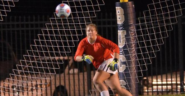 Coffey Makes Six Saves As Women's Soccer Drops 5-0 MASCAC Decision At Bridgewater State