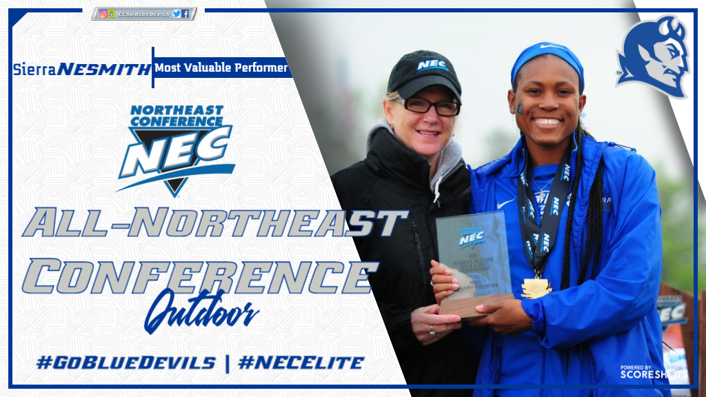 Nesmith, Women's Track & Field Earn NEC Honors