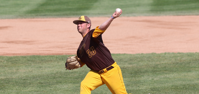 Senior ABCA/Rawlings All-Mideast Region and All-OAC pitcher Evan Lovick set a school record with his 24th career victory over Marietta in the OAC Tournament (Photo courtesy of Jeff Schaly)