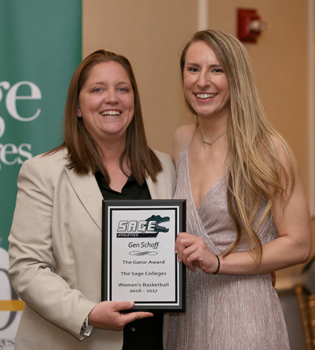 Sage's Schoff Named Gator of the Year in Women's Basketball