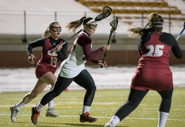Women's Lacrosse: Cadets storm back in second half to defeat Plattsburgh, 11-10