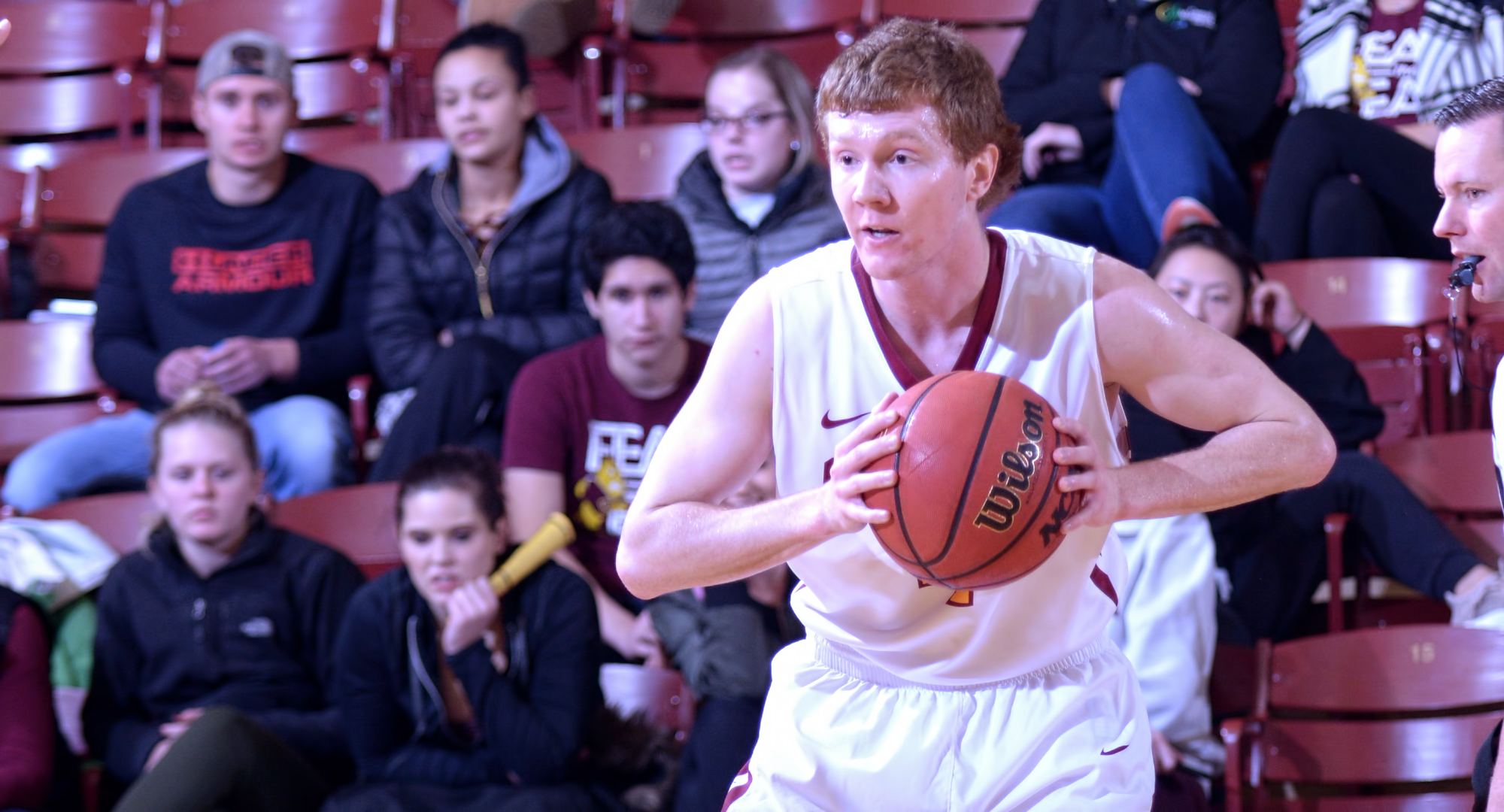 Junior Collin Larson scored a career-high 24 points and made seven 3-pointers to help the Cobbers to an 88-87 win at Bethany Lutheran.