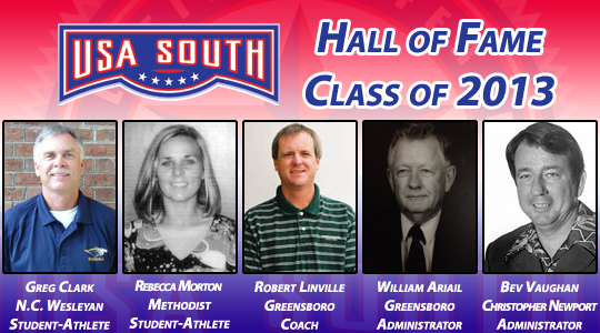 USA South Announces 2013 Hall of Fame Class