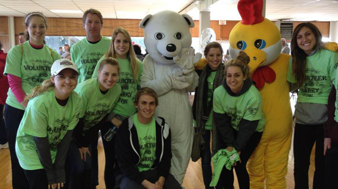 Centenary Athletics assists with Special Olympics