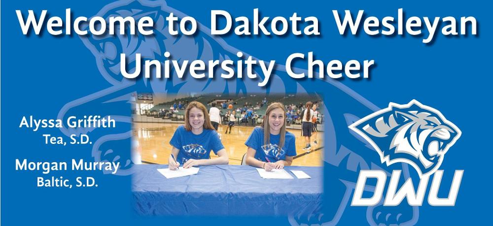 Griffith, Murray Sign with DWU Cheer
