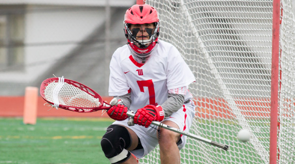 Jesse Langer made eight saves in a 12-9 win over Oberlin. File Photo | Erin Pence