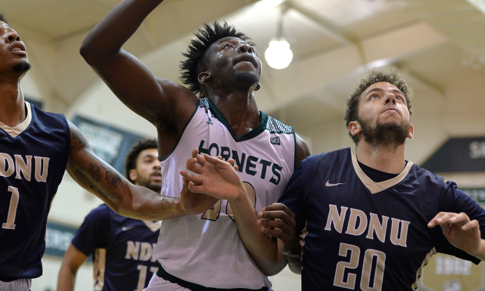 MEN'S BASKETBALL WINS SEVENTH STRAIGHT HOME OPENER AFTER 74-53 VICTORY OVER NDNU
