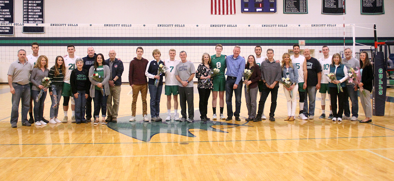 No. 11 Men's Volleyball Bests Newbury On Senior Day, 3-0
