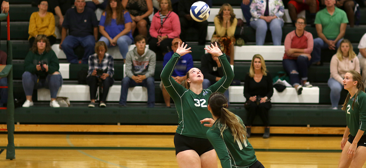 Sage women's volleyball team rallies to knock off Bard in home opener, 3-1